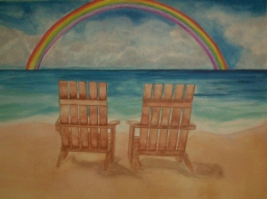two chairs and a beach