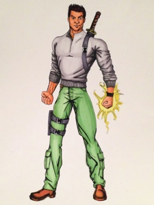 Alex Concept character for graphic novel